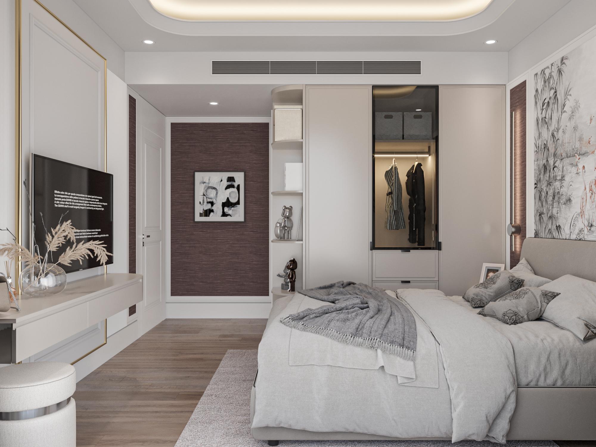 Phòng ngủ master chung cư dlc complex